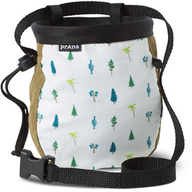 Prana Graphic Chalk Bag with Belt woodland green trees